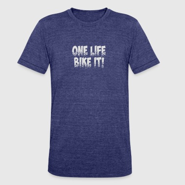 Bike Geek BIKE IT - Unisex Tri-Blend T-Shirt