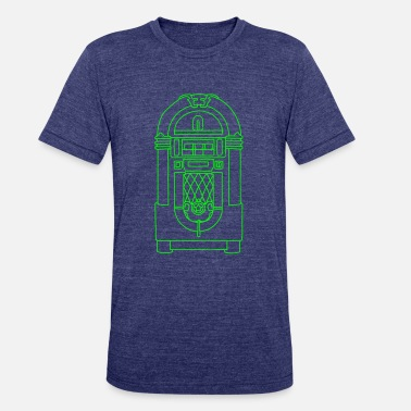Phonograph Jukebox - Unisex Tri-Blend T-Shirt