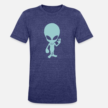 Alien Quote Alien - Unisex Tri-Blend T-Shirt