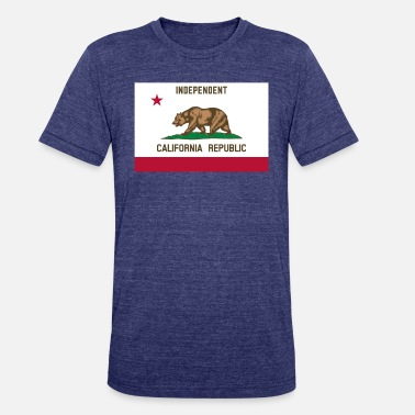 California Republic Flag Independent California Republic Flag - Unisex Tri-Blend T-Shirt