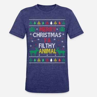 8f89f2ca Funny Ugly Christmas Sweater - Unisex Tri-Blend T-Shirt