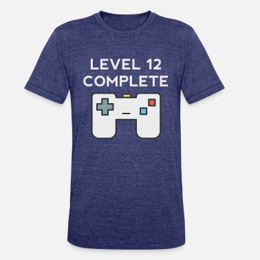 12th Birthday Level 12 Complete 12th Birthday - Unisex Tri-Blend T-Shirt