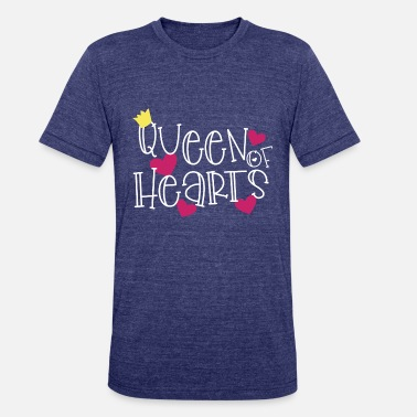 Queen Of Hearts queen of hearts - Unisex Tri-Blend T-Shirt