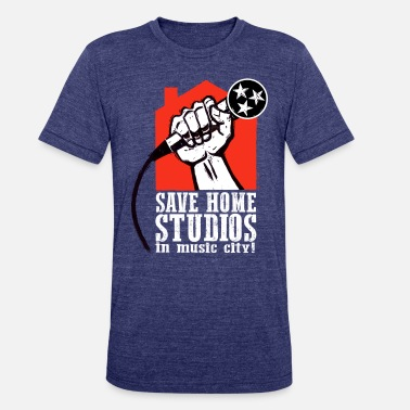 Recording Save Home Studios In Music City - Unisex Tri-Blend T-Shirt