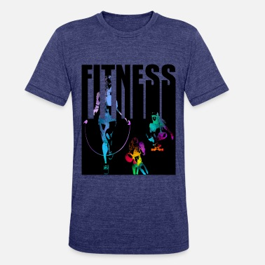 Skipping Girl fitness girl rope skipping - Unisex Tri-Blend T-Shirt