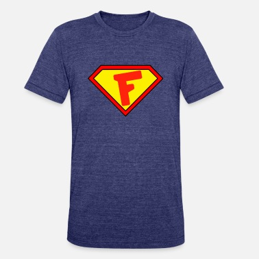 Superman Superman personalized shirt for F name - Unisex Tri-Blend T-Shirt