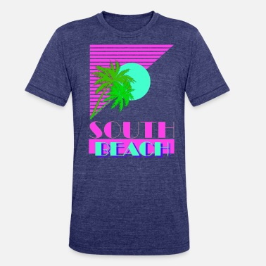 Miami South Beach South Beach 80s - Unisex Tri-Blend T-Shirt