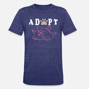 Cat Adoption Adopt A Cat - Unisex Tri-Blend T-Shirt