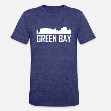 Green Bay Wi Green Bay Wisconsin City Skyline - Unisex Tri-Blend T-Shirt