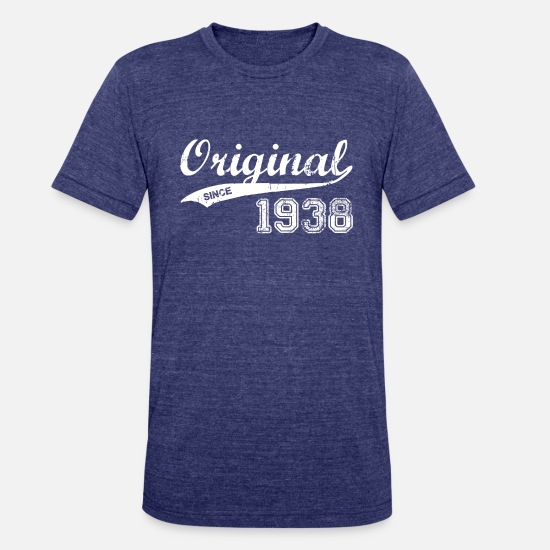 1938 T-Shirts - 1938 - Unisex Tri-Blend T-Shirt heather indigo