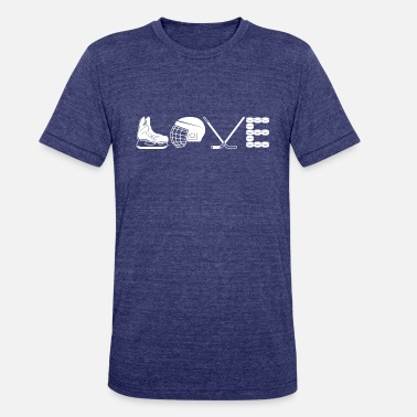 Love Hockey Love Hockey Shirt - Unisex Tri-Blend T-Shirt