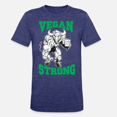 Vegan Strong Bull - Unisex Tri-Blend T-Shirt