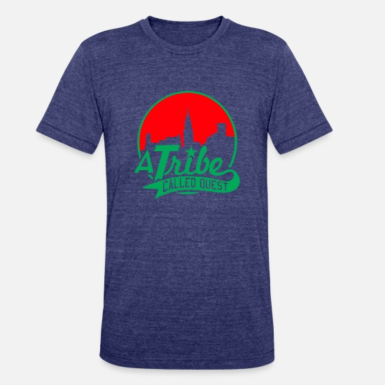 Tribe T-Shirts - a_tribe_called_quest_green_red - Unisex Tri-Blend T-Shirt heather indigo