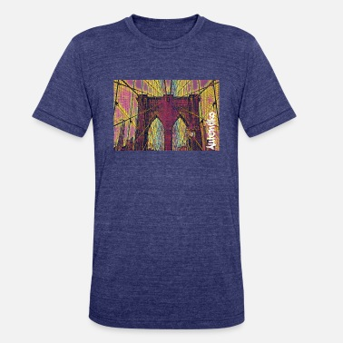 Brooklyn Bridge New York - Unisex Tri-Blend T-Shirt