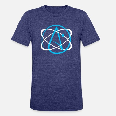 Charles Darwin Theory Of Evolution Atheist Atom Logo - Unisex Tri-Blend T-Shirt