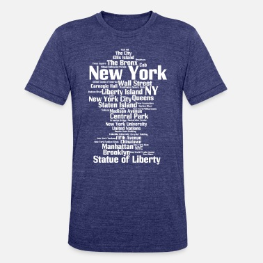 Queens Ny New York City (NY, NYC) - Unisex Tri-Blend T-Shirt