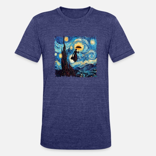 Peter T-Shirts - Mary Poppins starrynight - Unisex Tri-Blend T-Shirt heather indigo