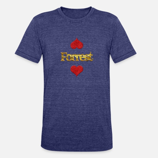 Forrest Love T-Shirts - Forrest - Unisex Tri-Blend T-Shirt heather indigo