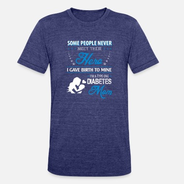 Type One I'm a type one diabetes mom - Unisex Tri-Blend T-Shirt
