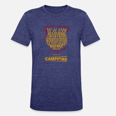 Barcelona Fc Lyrics of the FC Barcelona Anthem - Unisex Tri-Blend T-Shirt