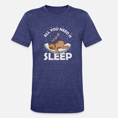 Teddy Bear Sleep sleep sleepy teddy bear snoozing gift dreaming - Unisex Tri-Blend T-Shirt