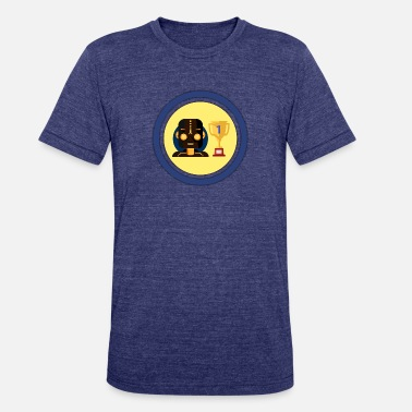 Andro ANDRO Champ logo: ROBOT With circles - Unisex Tri-Blend T-Shirt