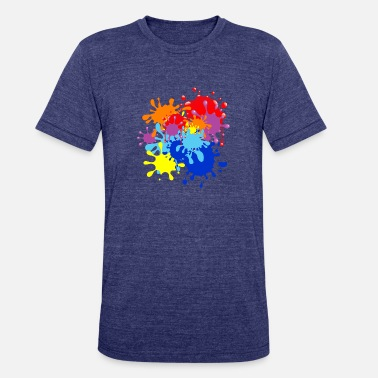 Splatter Paint Splatter - Unisex Tri-Blend T-Shirt