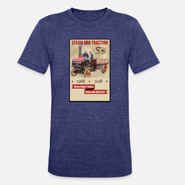 Traction Engine Booleroo Steam & Traction - Unisex Tri-Blend T-Shirt