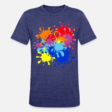 Paint Splatter Paint Splatter - Unisex Tri-Blend T-Shirt