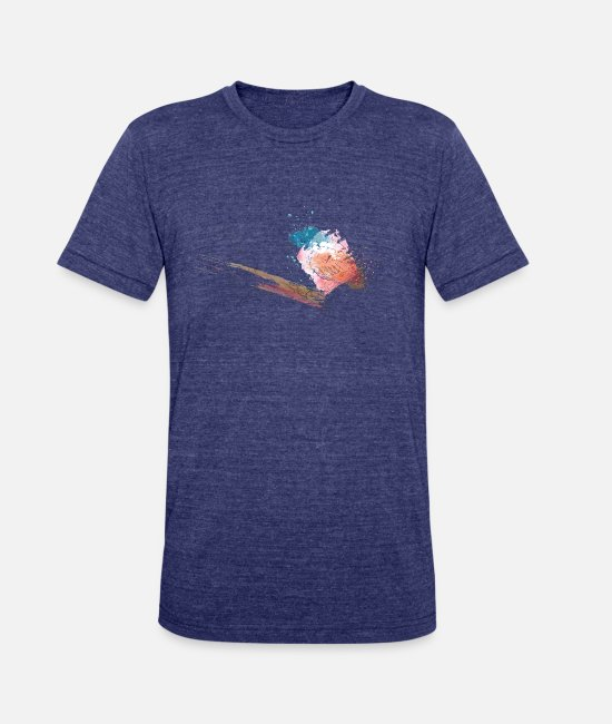 Collections T-Shirts - Little Bird - Unisex Tri-Blend T-Shirt heather indigo