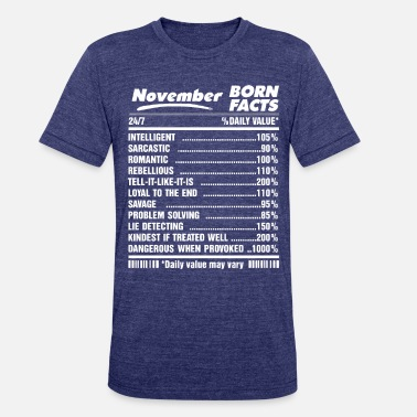 November Born Facts November born facts - Unisex Tri-Blend T-Shirt