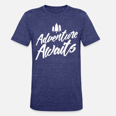Camping Adventure Awaits - Unisex Tri-Blend T-Shirt