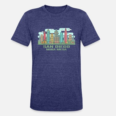 Mira San Diego Mira Mesa California Skyline United Stat - Unisex Tri-Blend T-Shirt