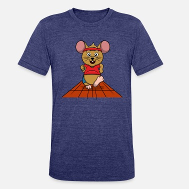 Running Mouse Mouse Running - Unisex Tri-Blend T-Shirt