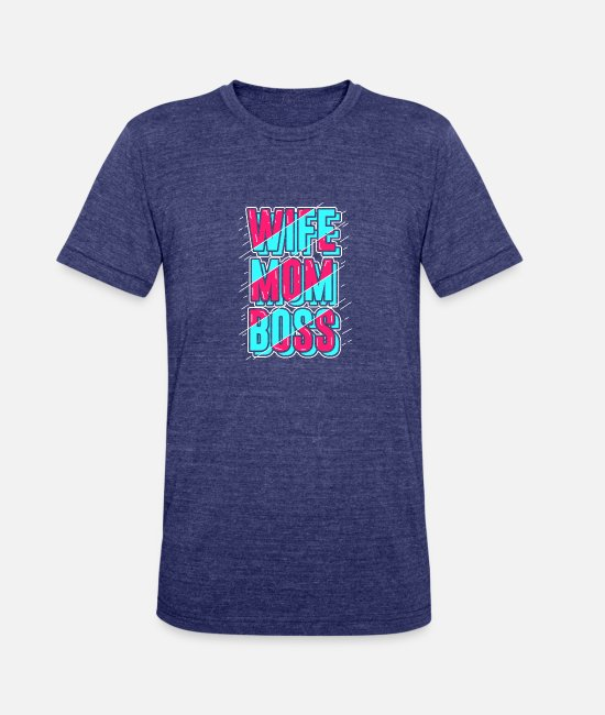 Pattern T-Shirts - Boss - Unisex Tri-Blend T-Shirt heather indigo