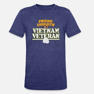Vietnam Womens Proud Daughter Of A Vietnam Veteran design - Unisex Tri-Blend T-Shirt