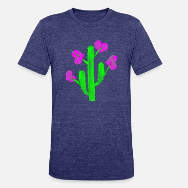 Hearts hung in cactus thorns - Unisex Tri-Blend T-Shirt