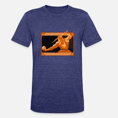 Zeus The wrath of zeus holding - Unisex Tri-Blend T-Shirt