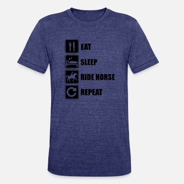 Riding Academy eat sleep ride horses - Unisex Tri-Blend T-Shirt