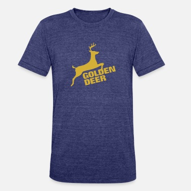 Three Hauses Golden Deer Emblem - Unisex Tri-Blend T-Shirt