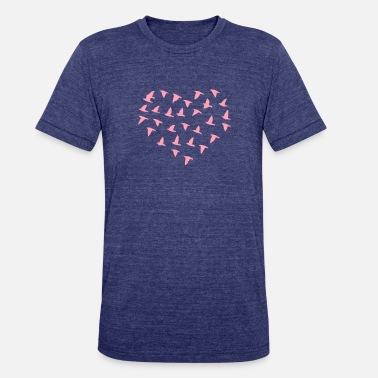 Flock Of Birds Heart Flock of Birds - Unisex Tri-Blend T-Shirt
