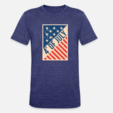 Poster Usa independence day poster - Unisex Tri-Blend T-Shirt