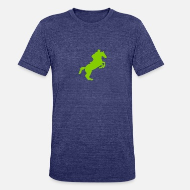 Equitation equitation rider jumping horse 8 - Unisex Tri-Blend T-Shirt