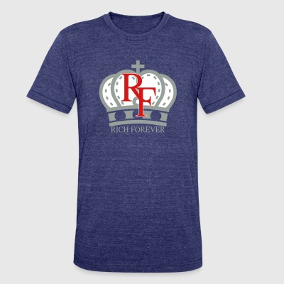 Rich forever Crown 3 5 - Unisex Tri-Blend T-Shirt by American Apparel