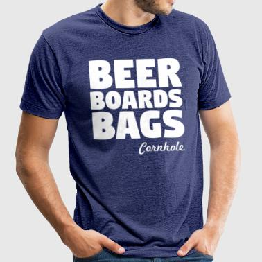 Beer Boards Bags Cornhole - Unisex Tri-Blend T-Shirt