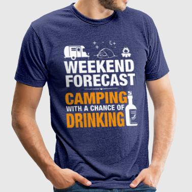 CAMPING HOLIDAY , DRINKING T-Shirt - Unisex Tri-Blend T-Shirt by American Apparel
