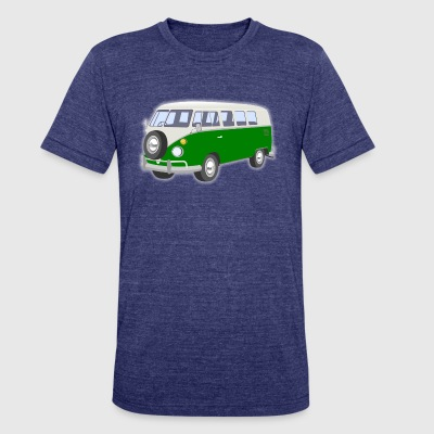 hippie van - Unisex Tri-Blend T-Shirt by American Apparel