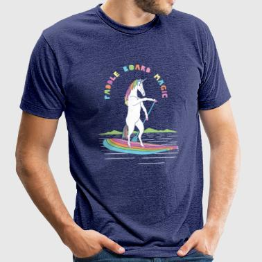 Paddle Board Unicorn Magic - Unisex Tri-Blend T-Shirt by American Apparel