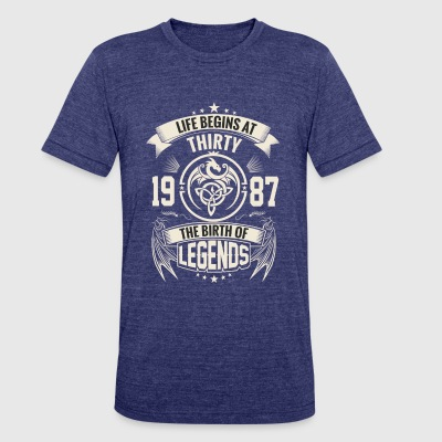The Birth of Legends 1987 - Unisex Tri-Blend T-Shirt by American Apparel