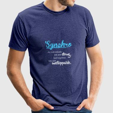 Synchronized Swimming Together We Are Unstoppable - Unisex Tri-Blend T-Shirt
